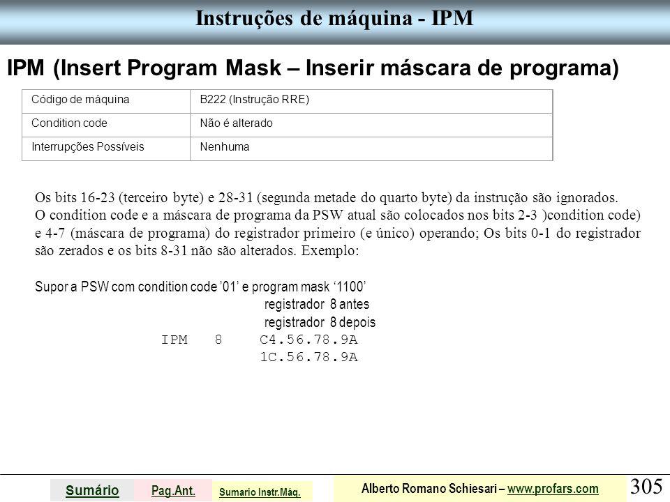 Instruções de máquina - IPM