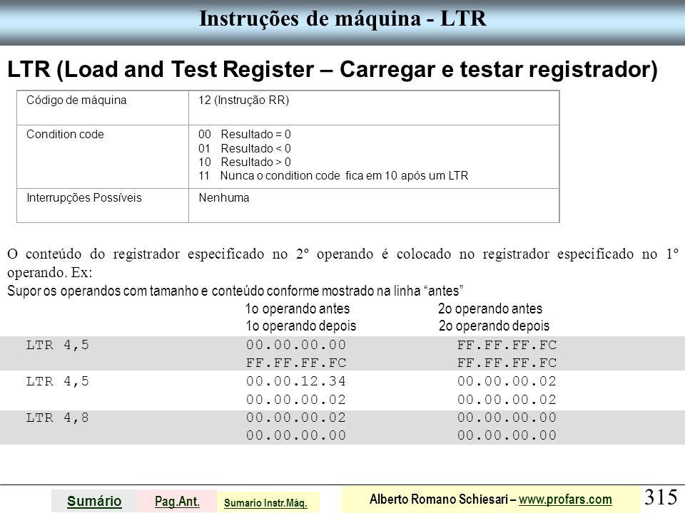 Instruções de máquina - LTR