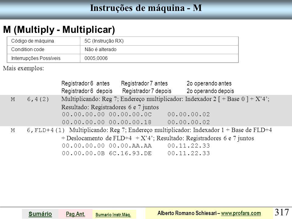 Instruções de máquina - M
