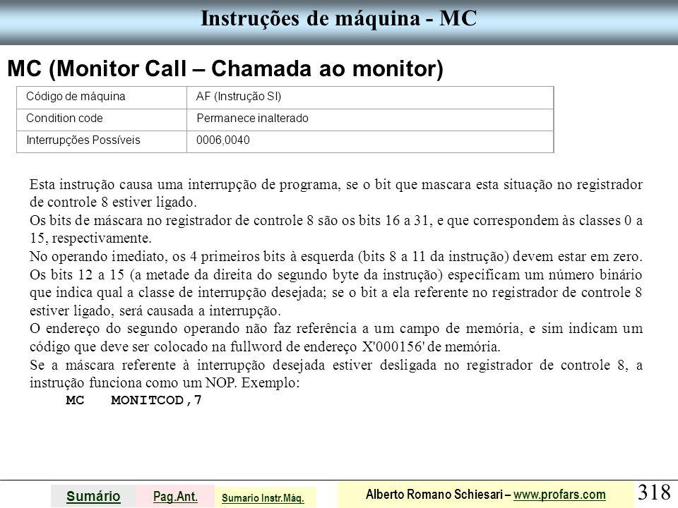 Instruções de máquina - MC