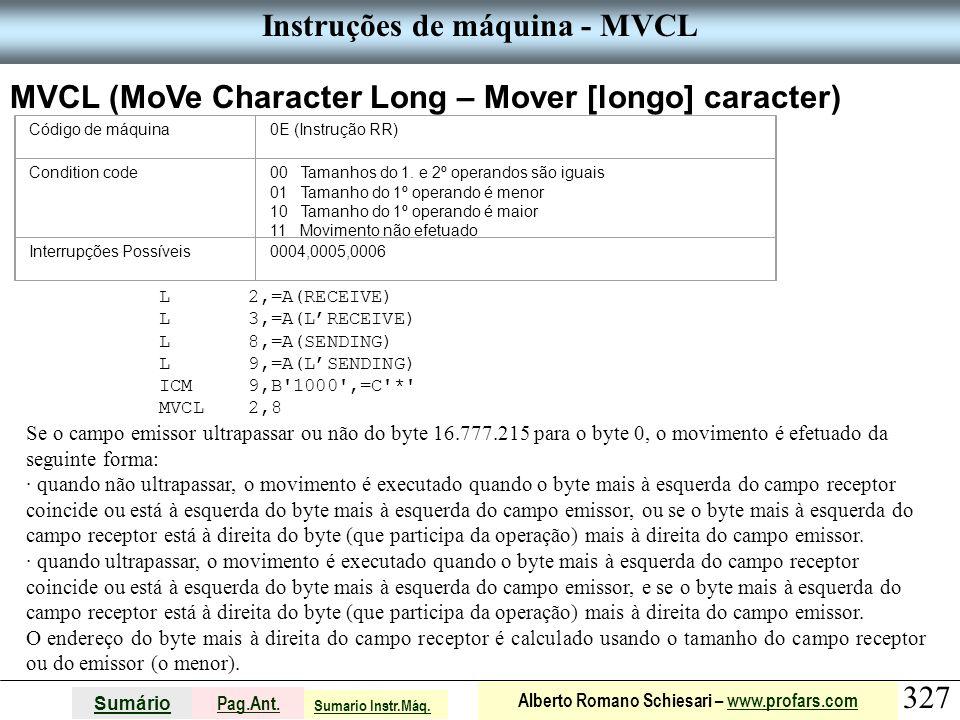 Instruções de máquina - MVCL