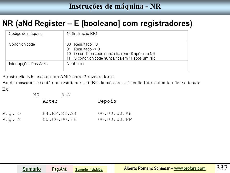 Instruções de máquina - NR