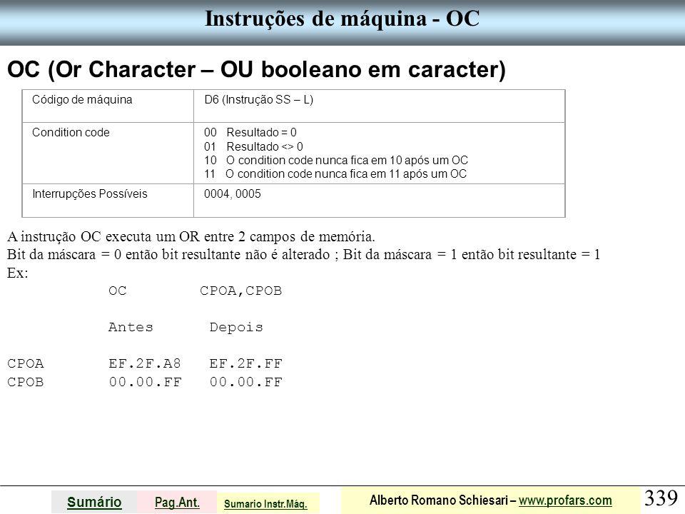 Instruções de máquina - OC