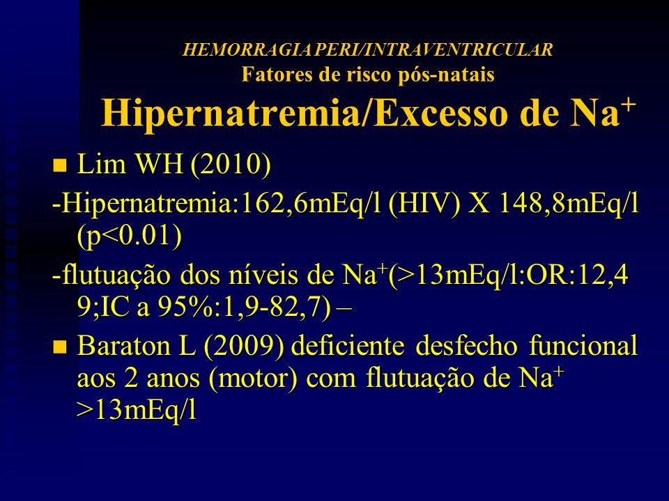 -Hipernatremia:162,6mEq/l (HIV) X 148,8mEq/l (p<0.01)