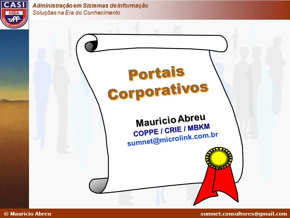 Portais Corporativos Mauricio Abreu COPPE / CRIE / MBKM