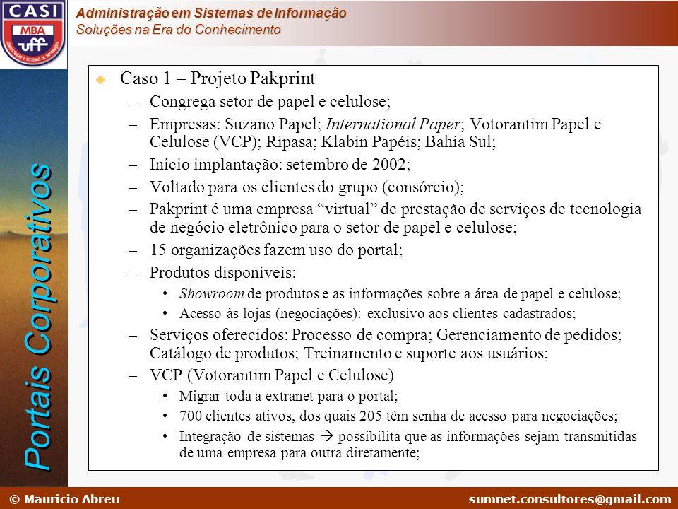 Portais Corporativos Caso 1 – Projeto Pakprint
