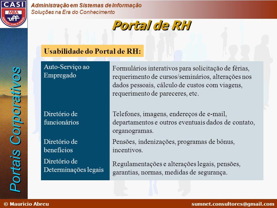 Portais Corporativos Portal de RH Usabilidade do Portal de RH: