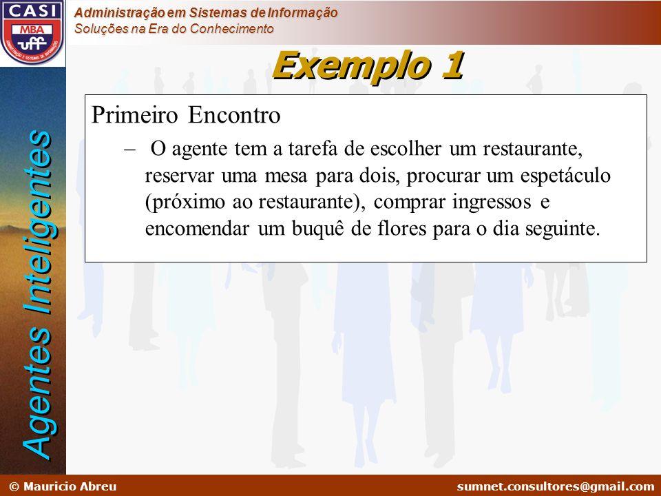 Exemplo 1 Agentes Inteligentes Primeiro Encontro