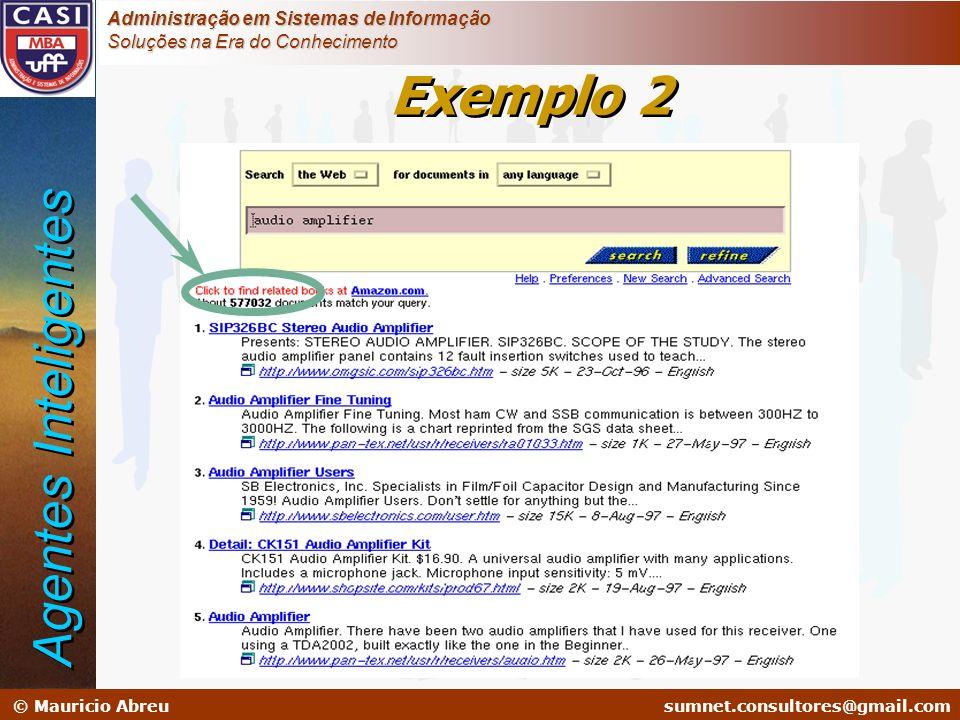 Exemplo 2 Agentes Inteligentes