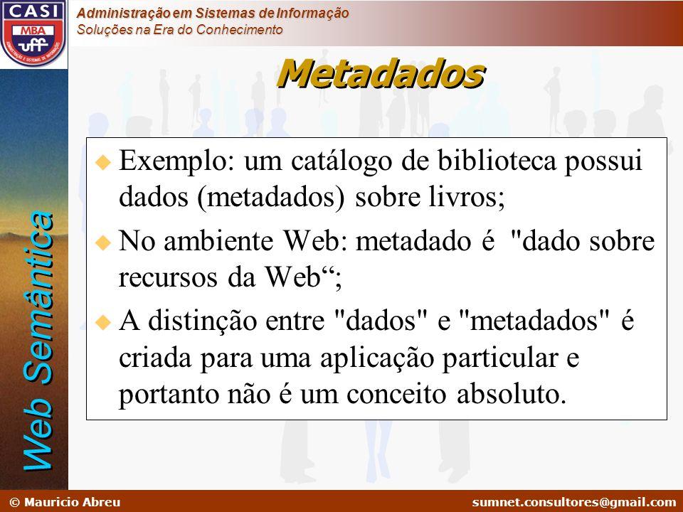 Metadados Web Semântica