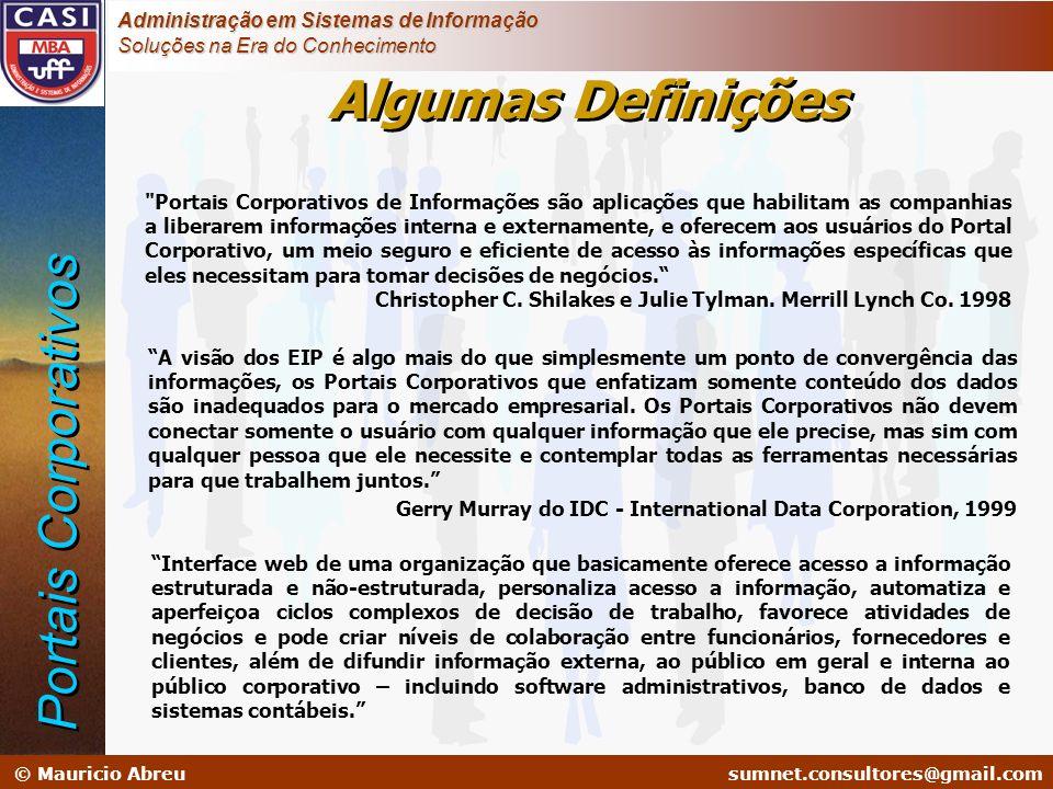 Algumas Definições Portais Corporativos
