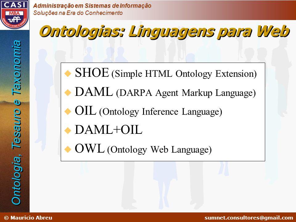 Ontologias: Linguagens para Web