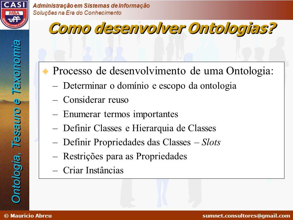 Como desenvolver Ontologias
