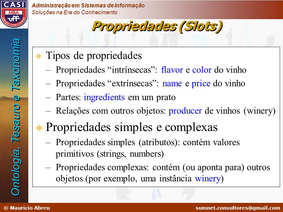 Propriedades simples e complexas
