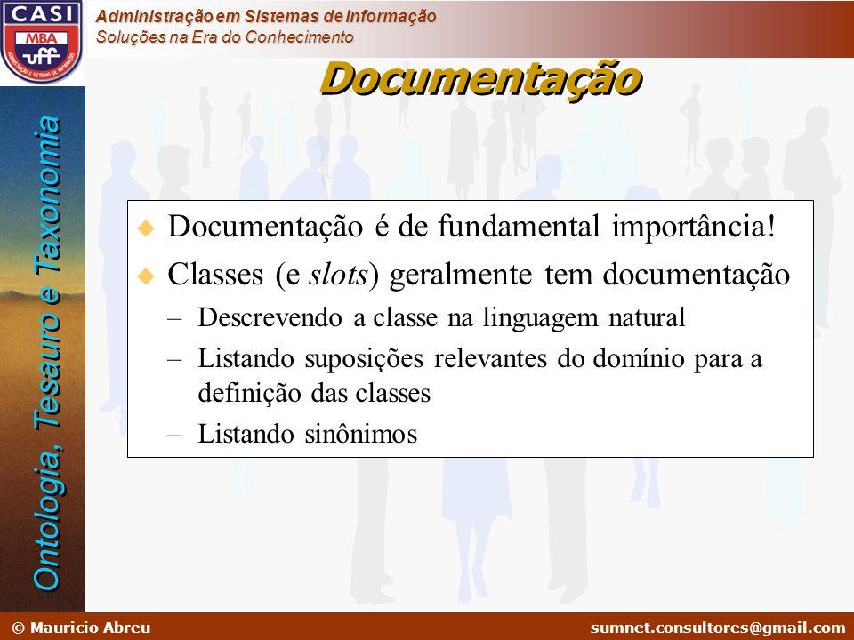 Documentação Ontologia, Tesauro e Taxonomia
