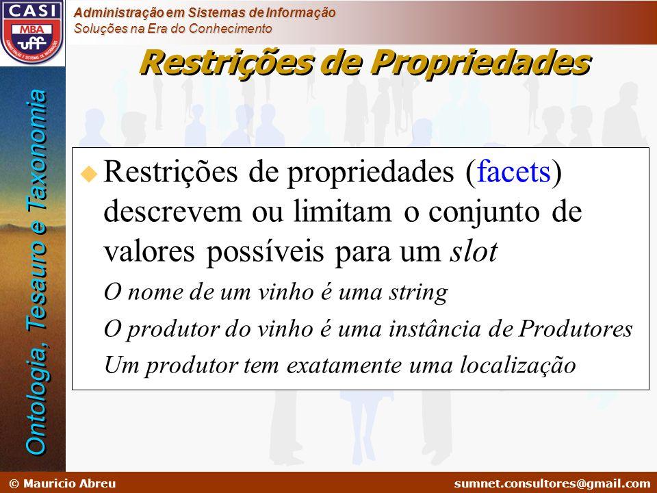 Restrições de Propriedades