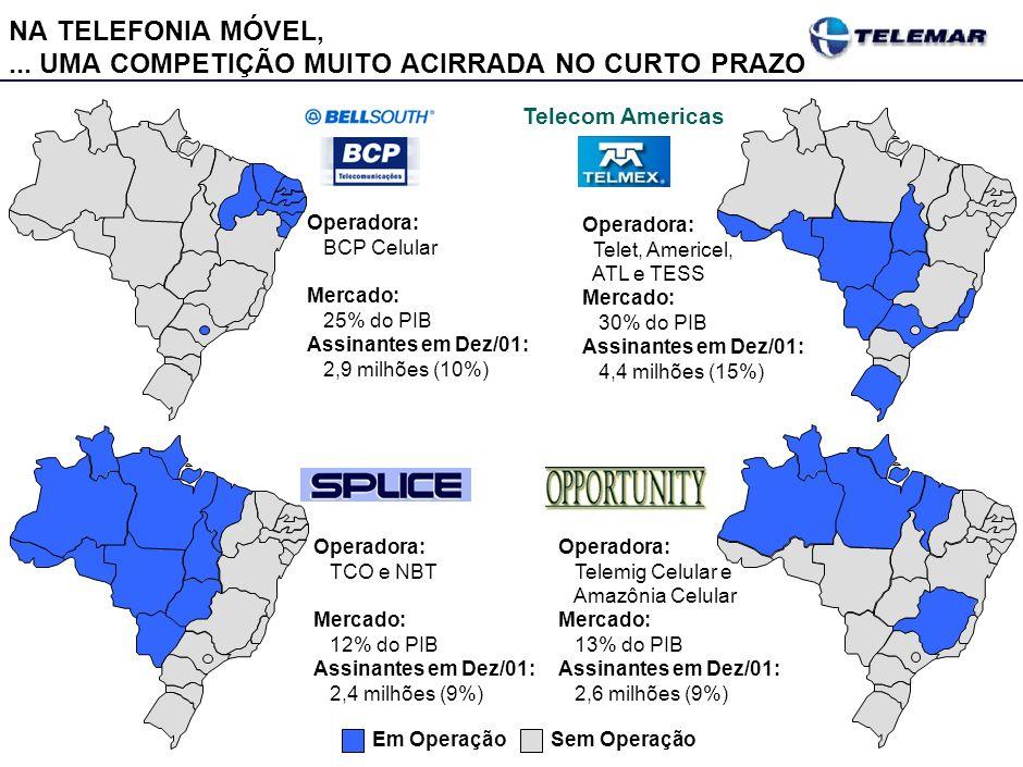 NA TELEFONIA FIXA, AS 3 CONCESSIONÁRIAS LOCAIS SÃO A BASE DO SETOR