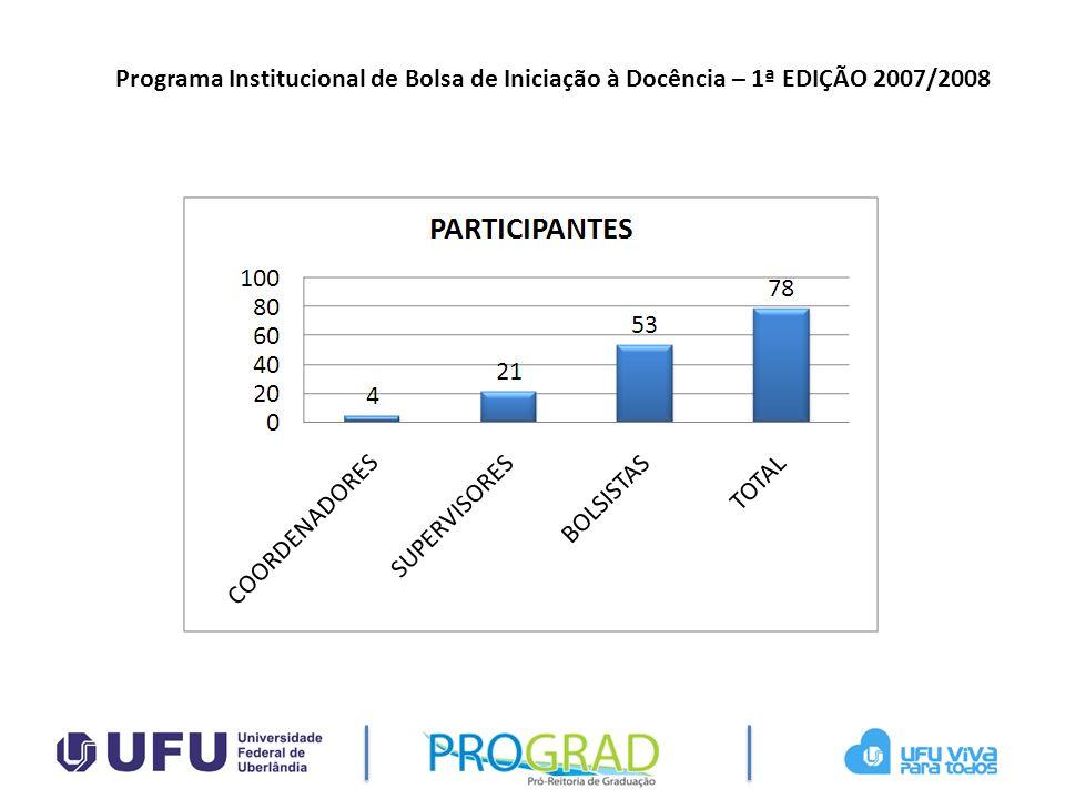 Programa Institucional de Bolsa de Iniciação à Docência – 1ª EDIÇÃO 2007/2008