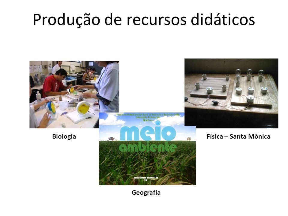 Produção de recursos didáticos