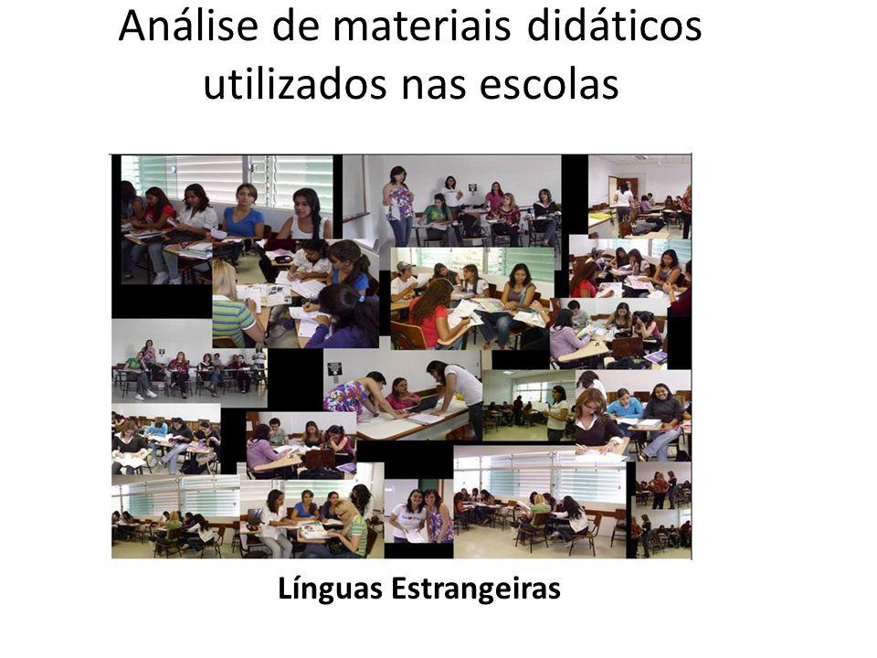 Análise de materiais didáticos utilizados nas escolas
