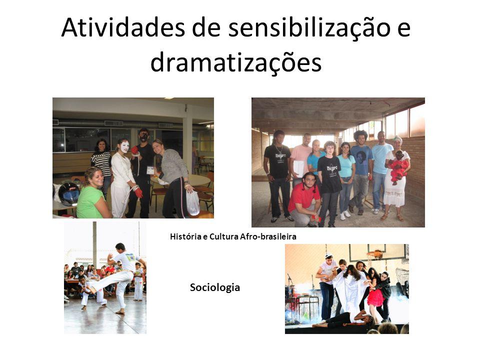 Atividades de sensibilização e dramatizações