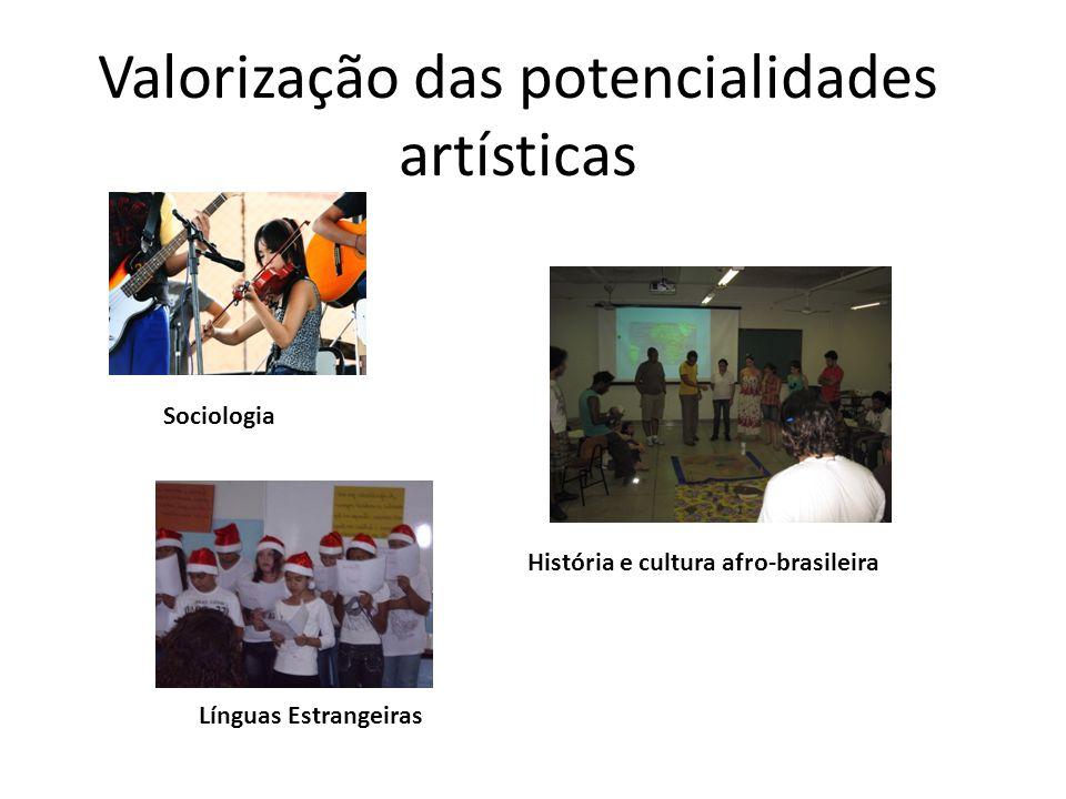 Valorização das potencialidades artísticas