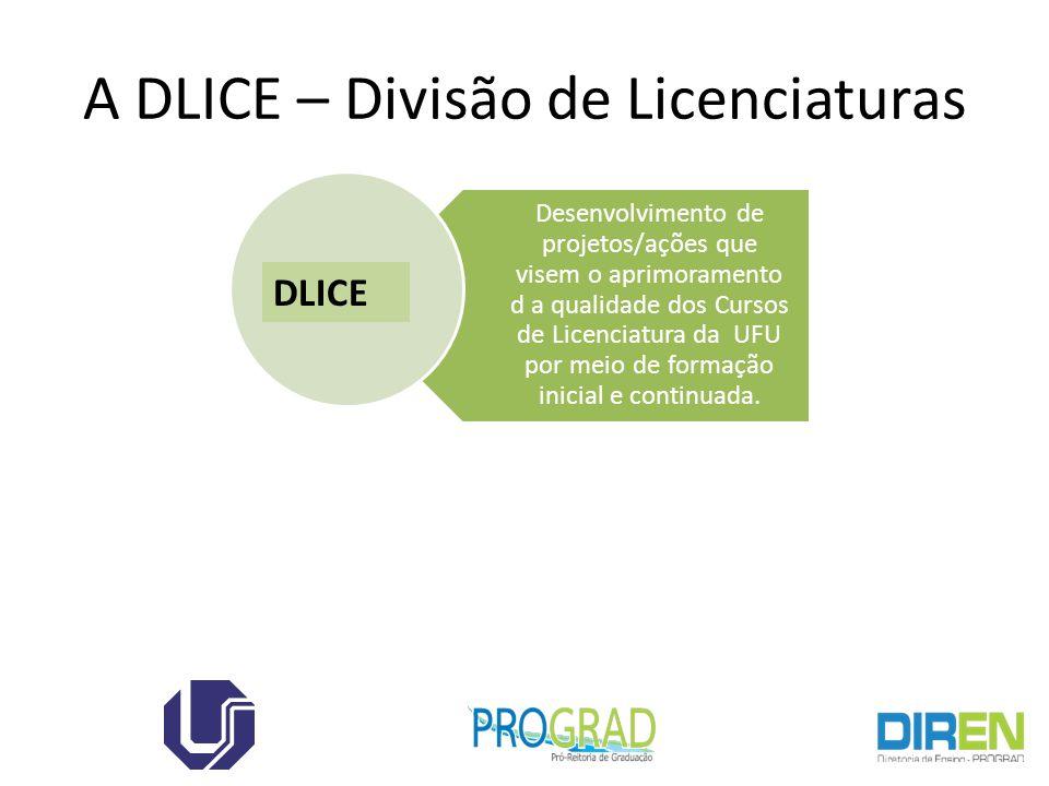 A DLICE – Divisão de Licenciaturas