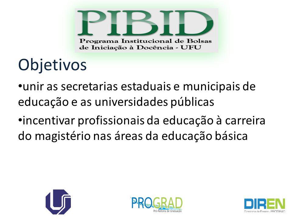 Objetivos unir as secretarias estaduais e municipais de educação e as universidades públicas.