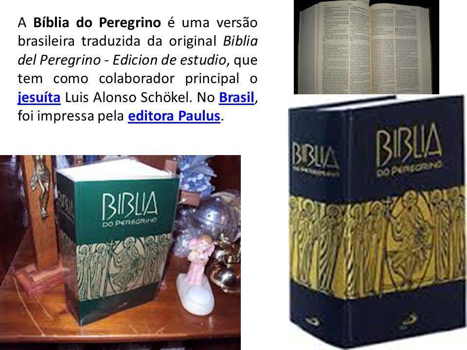 A Bíblia do Peregrino é uma versão brasileira traduzida da original Biblia del Peregrino - Edicion de estudio, que tem como colaborador principal o jesuíta Luis Alonso Schökel.