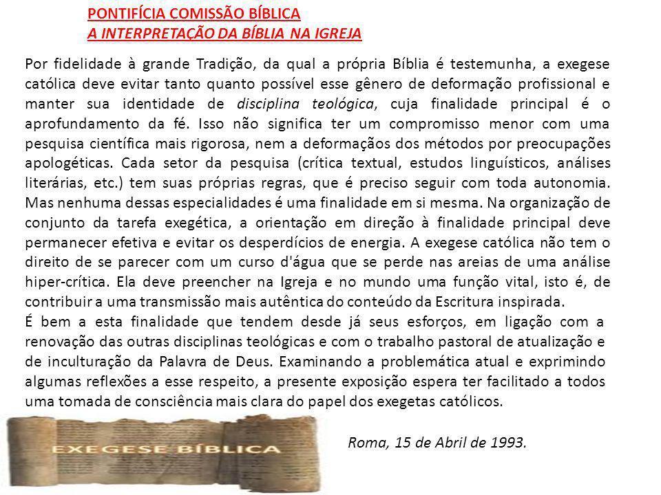 PONTIFÍCIA COMISSÃO BÍBLICA