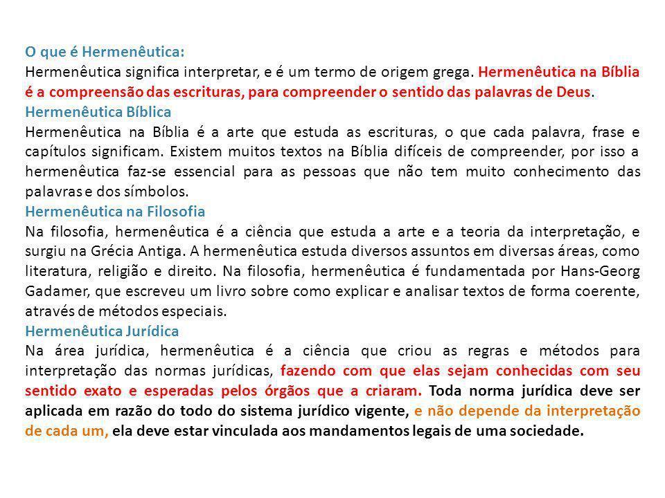 O que é Hermenêutica: