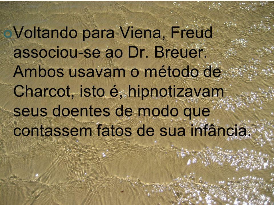 Voltando para Viena, Freud associou-se ao Dr. Breuer