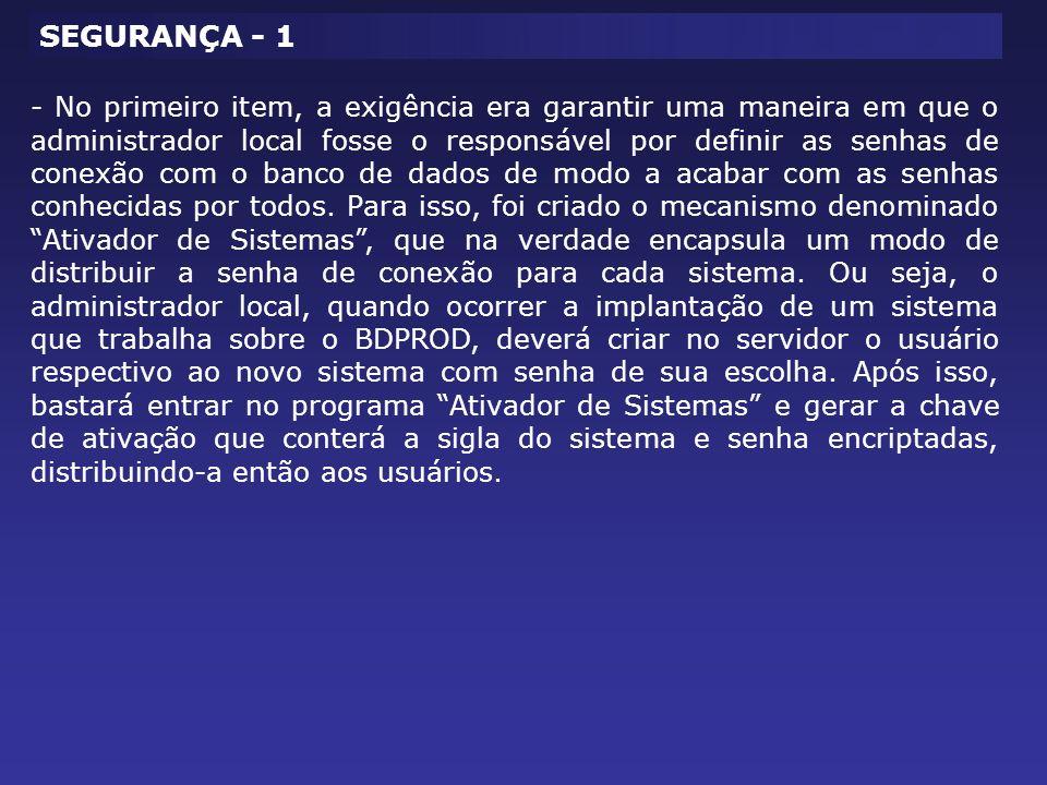SEGURANÇA - 1