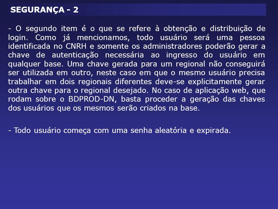 SEGURANÇA - 2
