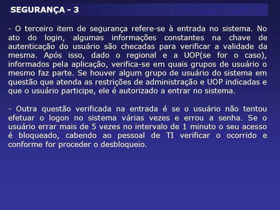 SEGURANÇA - 3