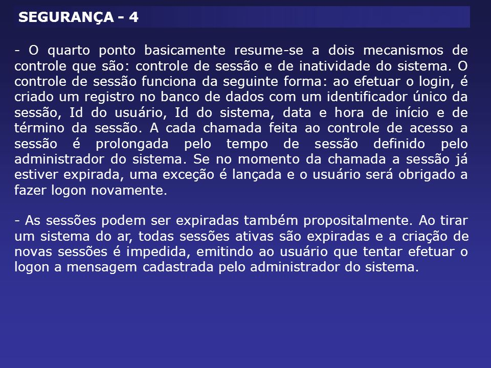 SEGURANÇA - 4