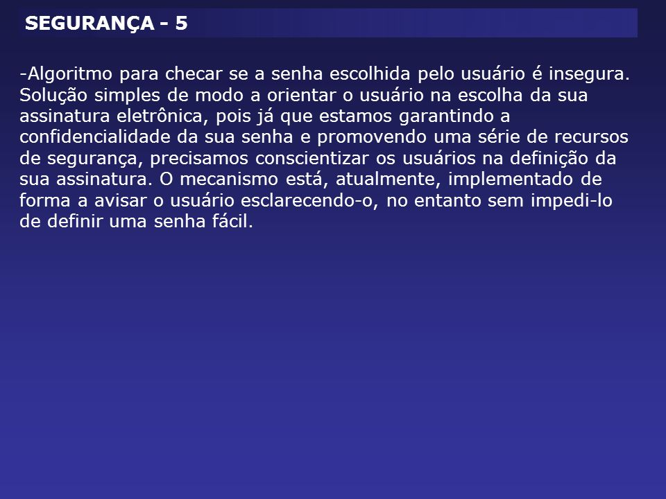 SEGURANÇA - 5
