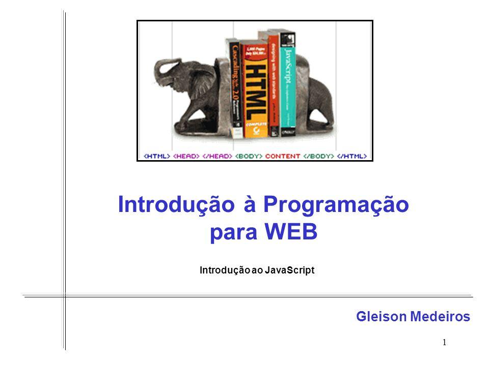 Introdução à Programação para WEB