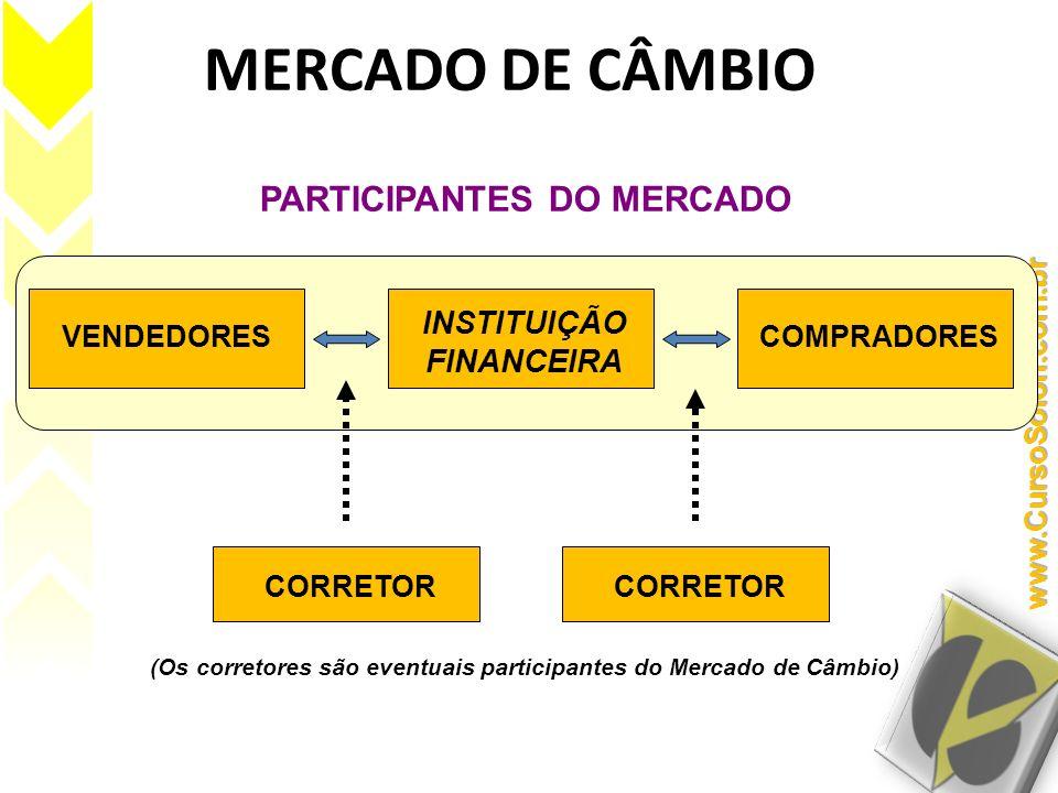 MERCADO DE CÂMBIO PARTICIPANTES DO MERCADO INSTITUIÇÃO FINANCEIRA