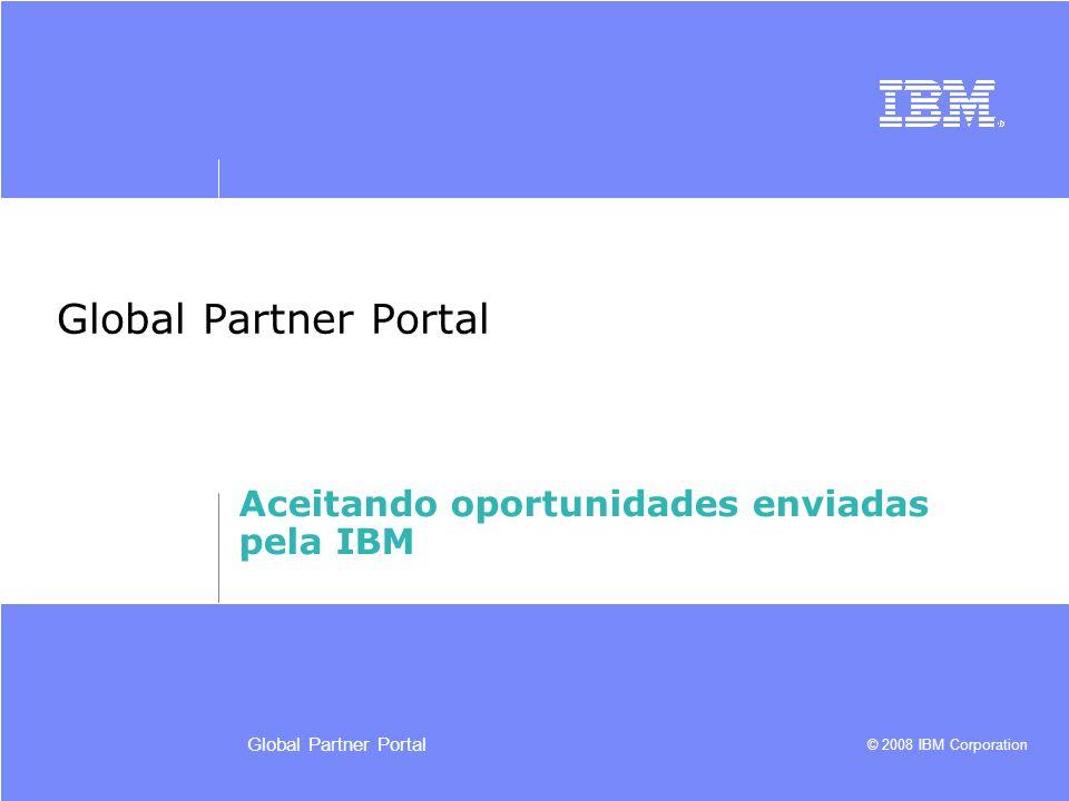 Aceitando oportunidades enviadas pela IBM