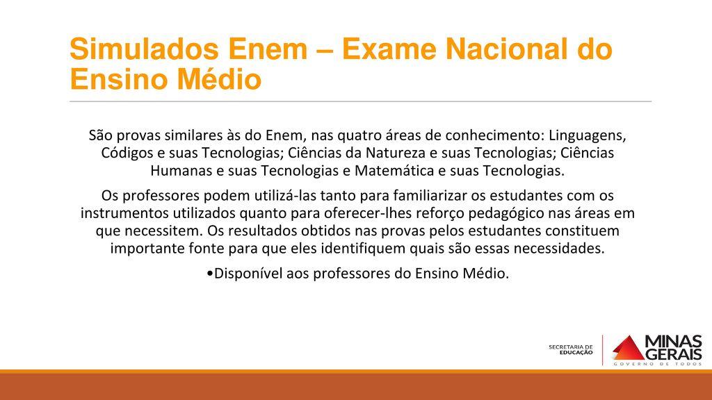 Simulados Enem – Exame Nacional do Ensino Médio