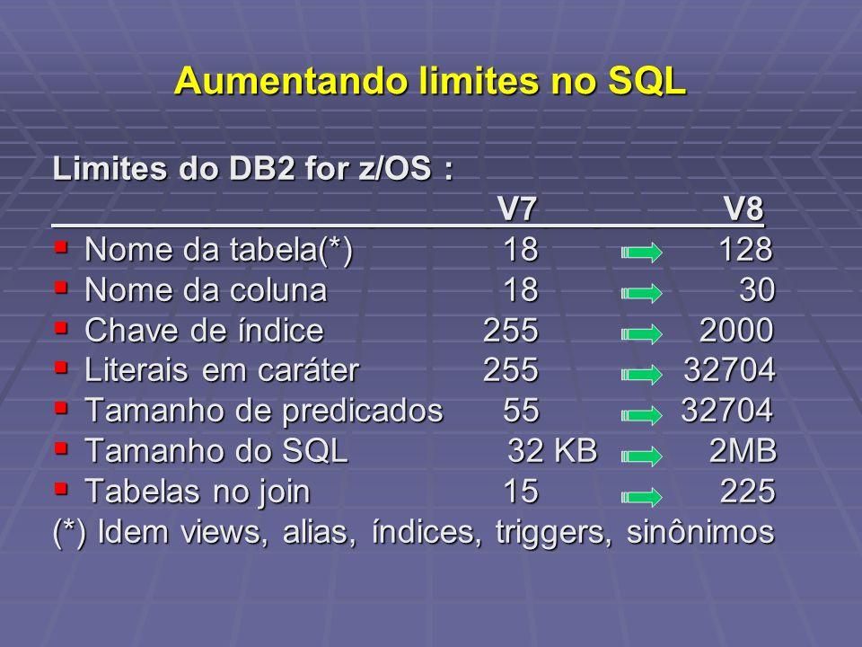 Aumentando limites no SQL