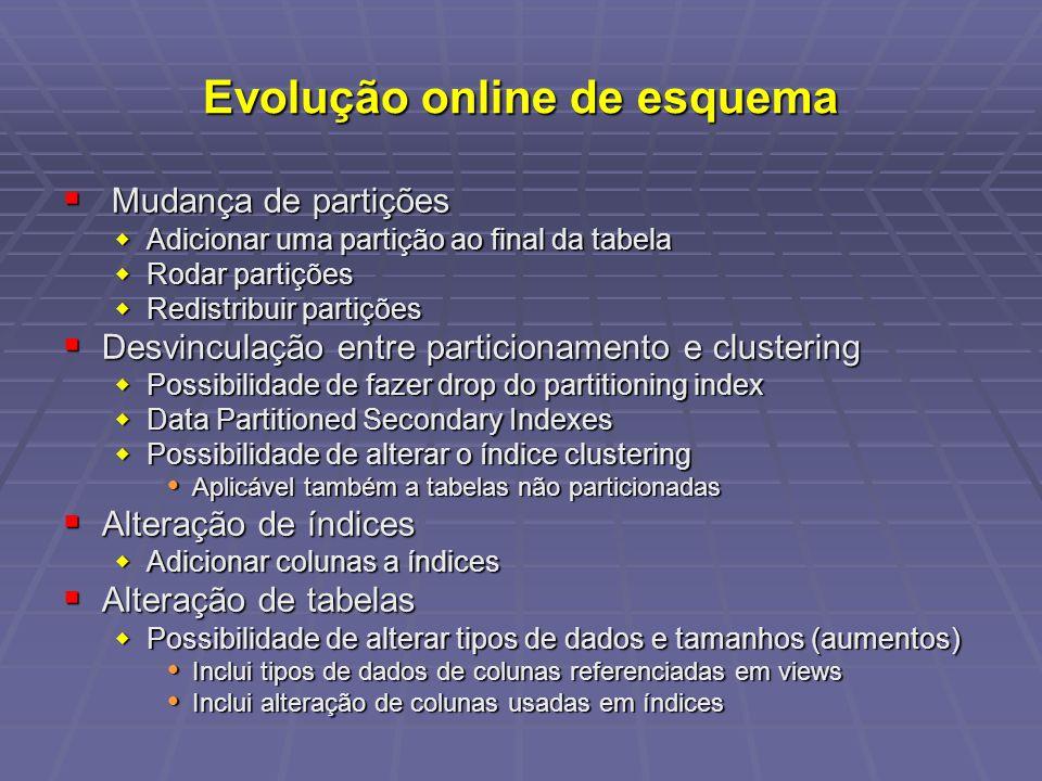 Evolução online de esquema