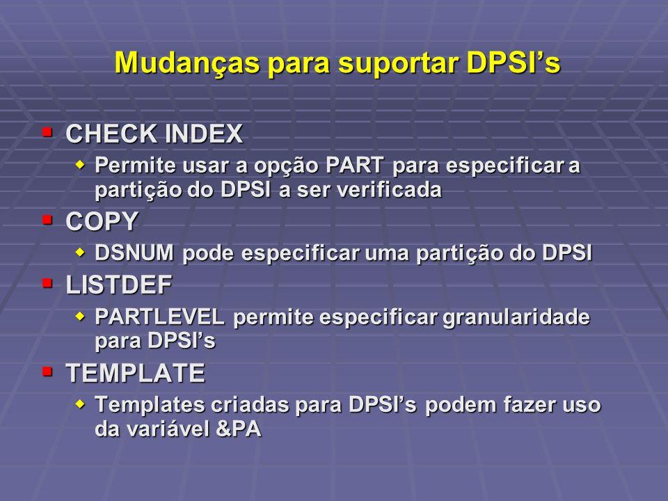 Mudanças para suportar DPSI's