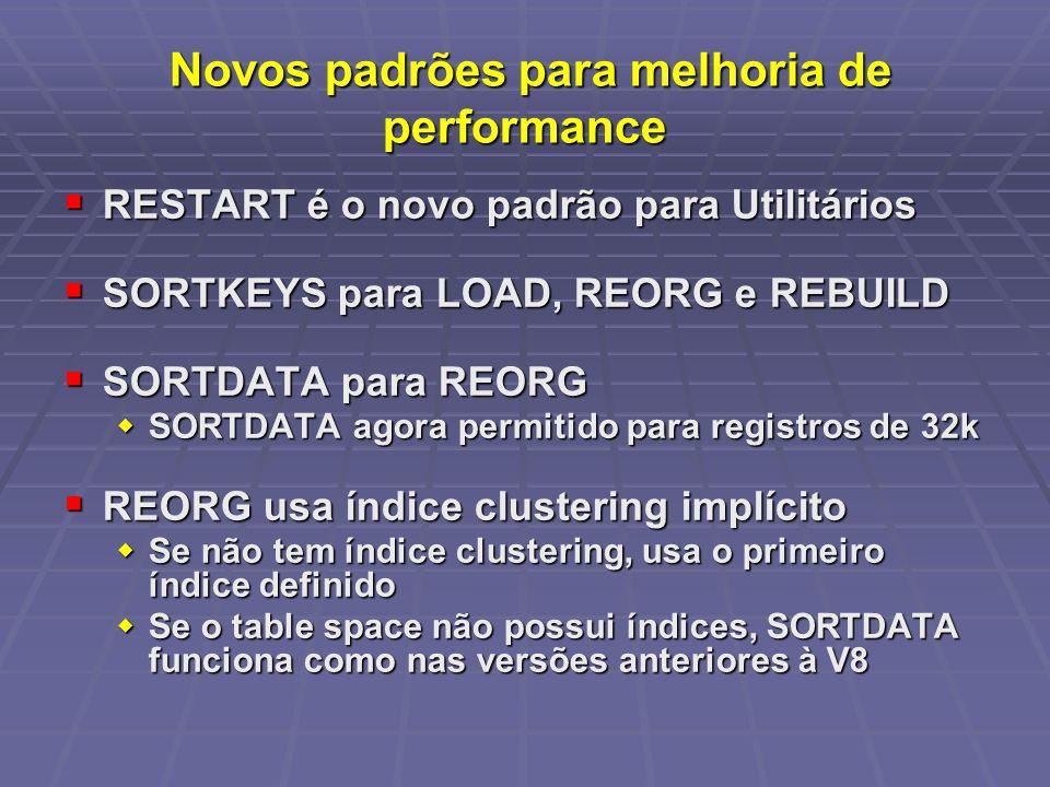 Novos padrões para melhoria de performance