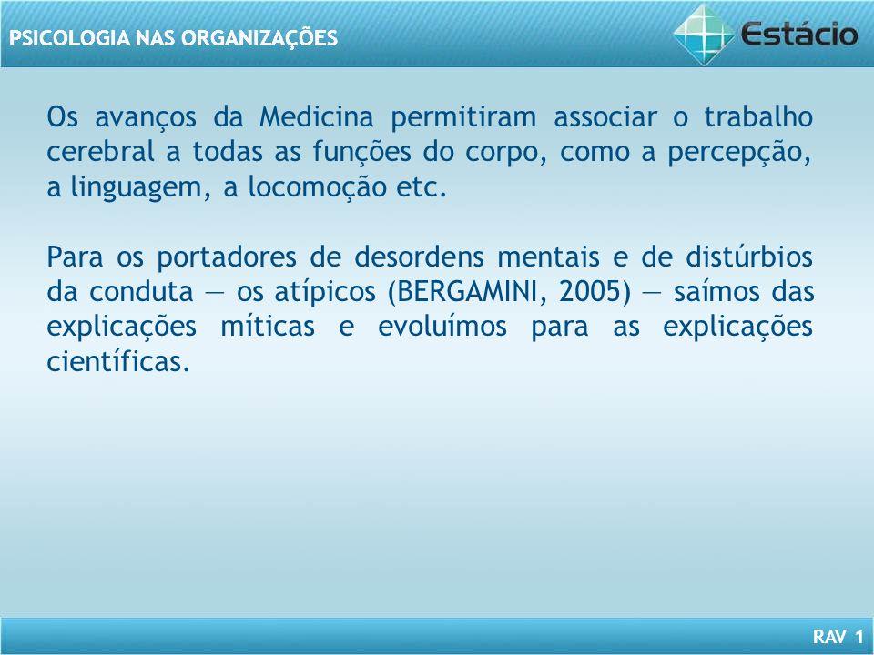Os avanços da Medicina permitiram associar o trabalho cerebral a todas as funções do corpo, como a percepção, a linguagem, a locomoção etc.