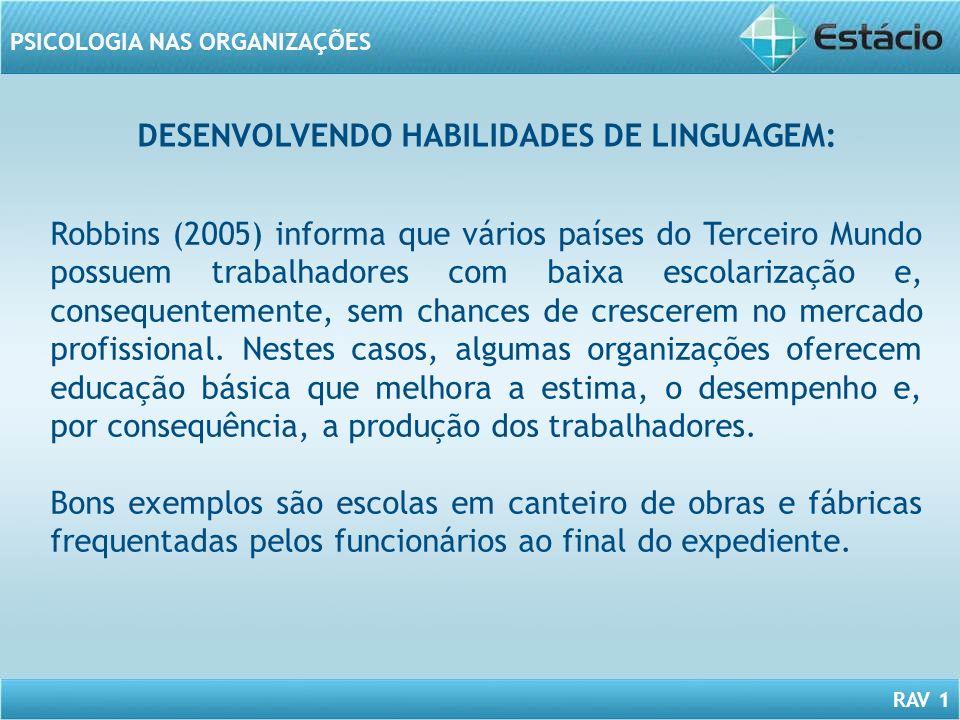 DESENVOLVENDO HABILIDADES DE LINGUAGEM:
