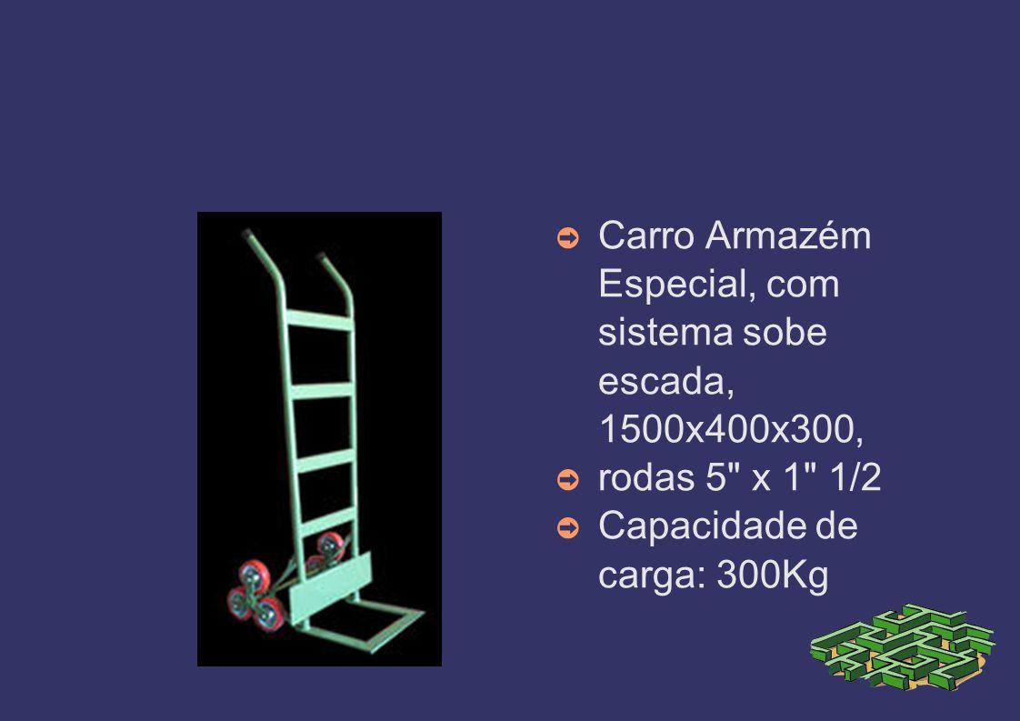 Carro Armazém Especial, com sistema sobe escada, 1500x400x300,