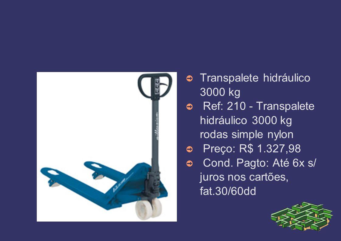 Transpalete hidráulico 3000 kg