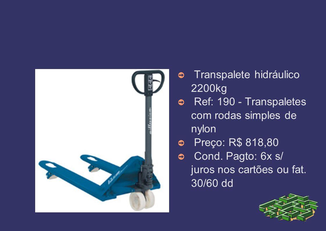 Transpalete hidráulico 2200kg
